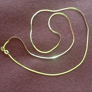 Vintage 14KT Italy Gold Serpentine Chain Necklace